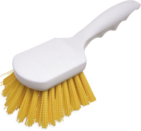 "Sparta® Utility Scrub Brush with Polyester Bristles 8"" x 3"" - Yellow"