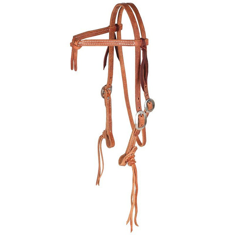 NRS Rattlesnake Knotted Browband Headstall