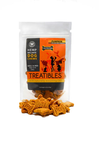 Hemp Wellness Small Pumpkin Dog Chews