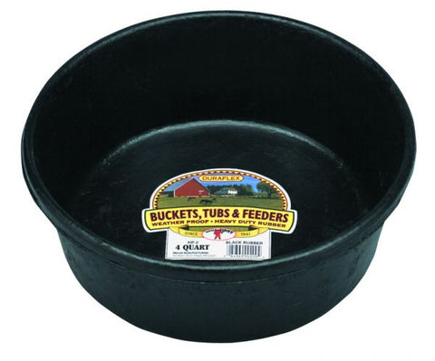 Little Giant 4 Quart Rubber Feed Pan