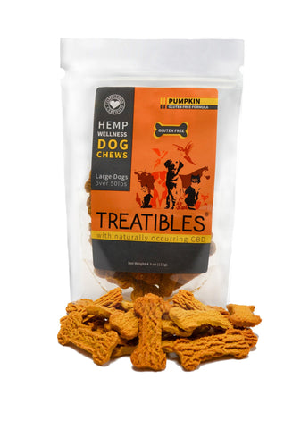 Hemp Wellness Large Pumpkin Dog Chews