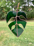 Stained Glass Monstera Leaf