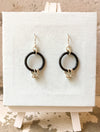 Sterling Silver & Black Earrings- $30