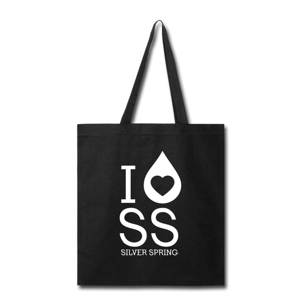 I Heart Silver Spring Tote Bag - black