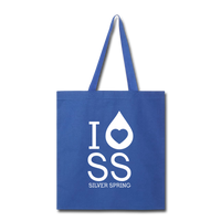 I Heart Silver Spring Tote Bag - royal blue