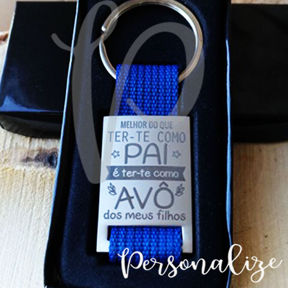 "Porta chaves "" PAI/ AVÔ"" Personalize"