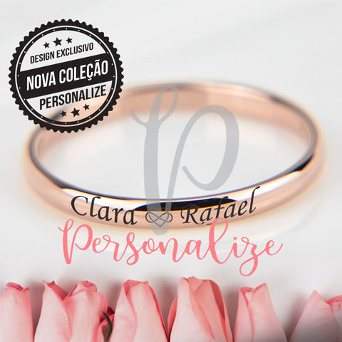 Anel 4 mm Rosa gold Personalize