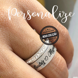 "Anel "" Design exclusivo "" Personalize"