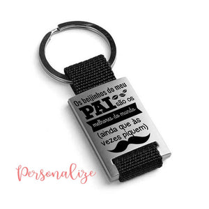 Porta-chaves completo em metal Personalize