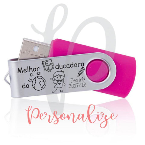 Pen USB 4GB com caixa Personalize