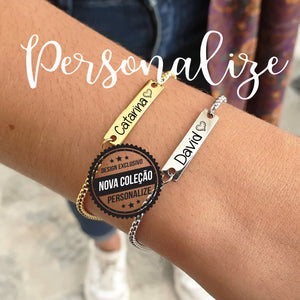 "Pulseiras "" Nomes"" personalizável Personalize"