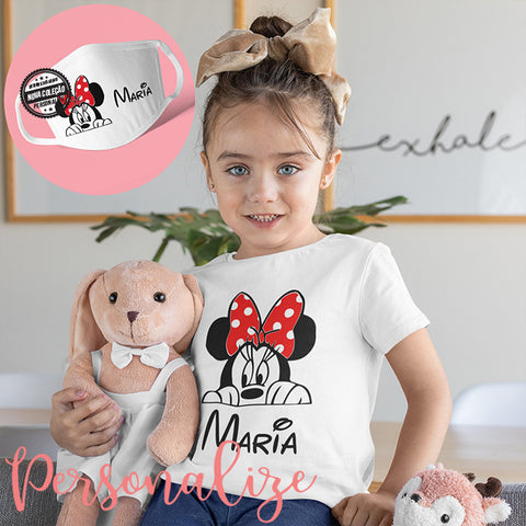 "T-shirt e/ ou capa de máscara  ""Minnie"""