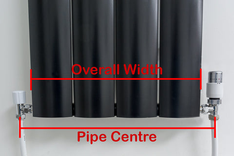 Radiator Pipe Centre Diagram