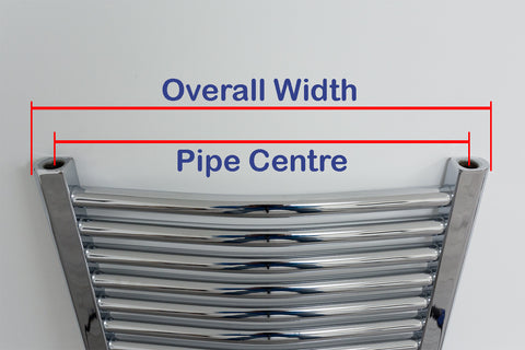 Towel Radiator Pipe Centre Diagram