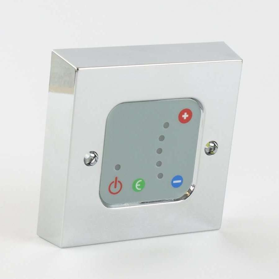 Kudox Wall Controller For Electric Towel Rail Radiators,Chrome