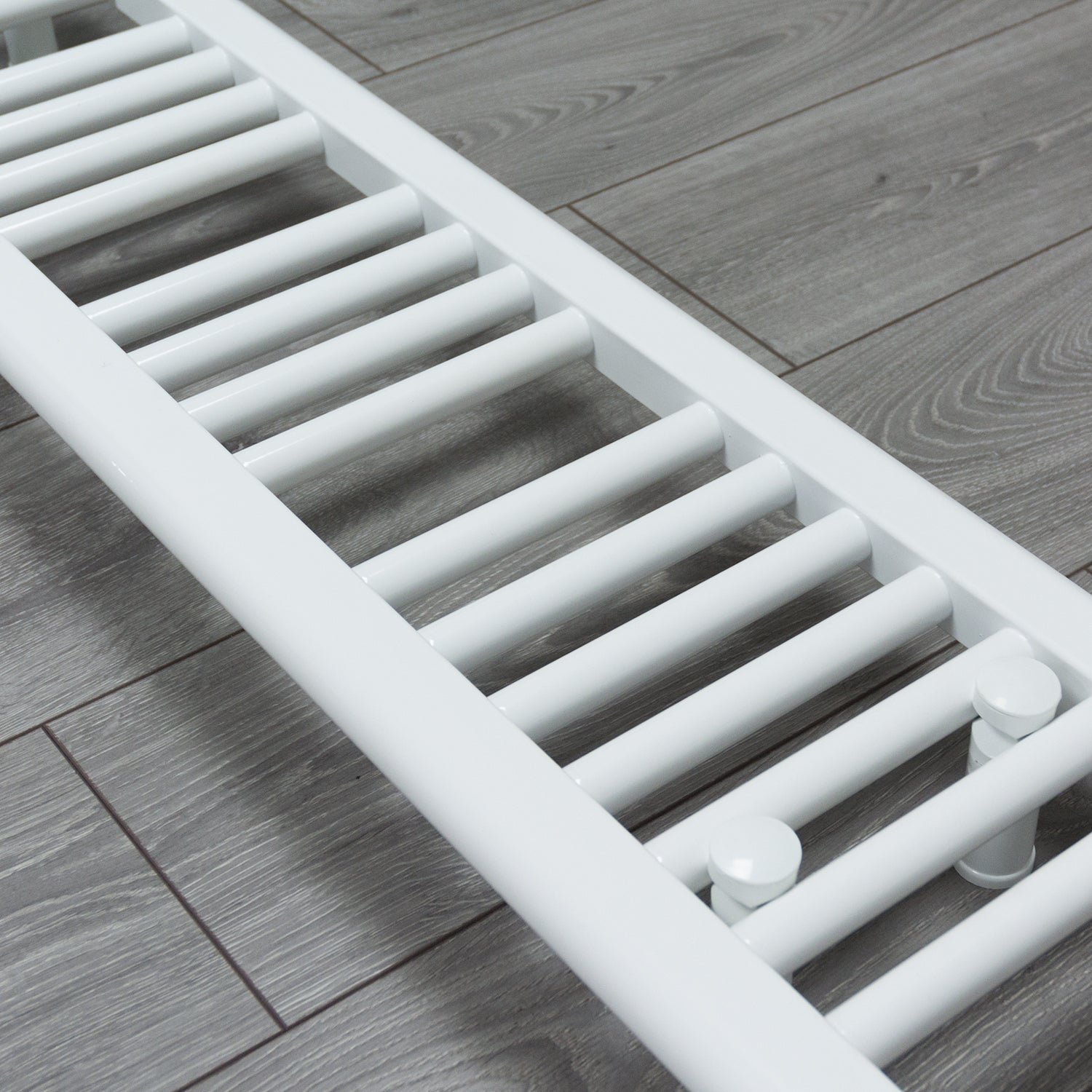 200mm Wide 600mm High Flat White Heated Towel Rail Radiator HTR