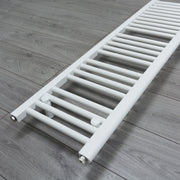 350mm Wide 1200mm High Flat White Heated Towel Rail Radiator HTR