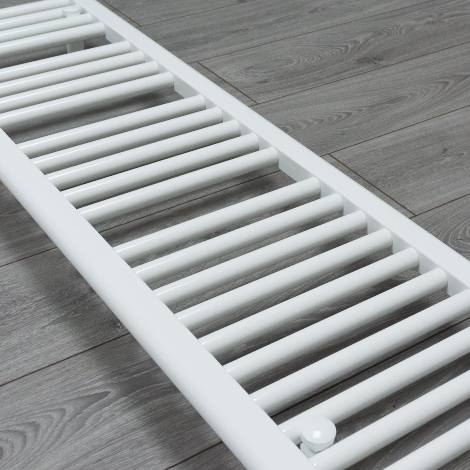 300mm Wide 600mm High Flat White Heated Towel Rail Radiator