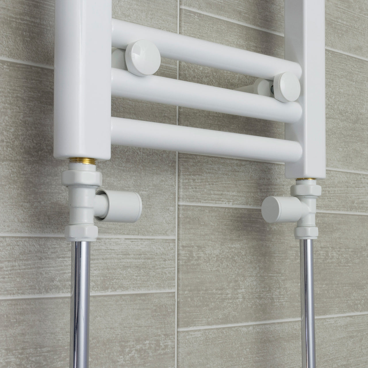 750mm Wide 1300mm High Flat White Heated Towel Rail Radiator HTR,With Straight Valve