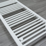 750mm Wide 1300mm High Flat White Heated Towel Rail Radiator HTR