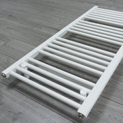 700mm Wide 1300mm High Flat White Heated Towel Rail Radiator HTR