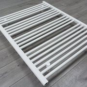 800mm Wide 1000mm High Flat White Heated Towel Rail Radiator HTR