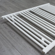 1100mm Wide 400mm High Flat White Heated Towel Rail Radiator HTR