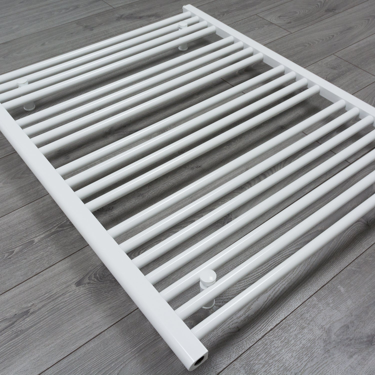 850mm Wide 400mm High Flat White Heated Towel Rail Radiator HTR