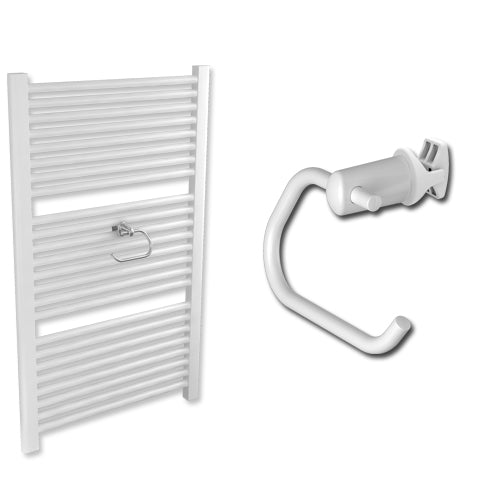 Towel Radiator Roll Holder for Heated Towel Rail Radiator Chrome or White