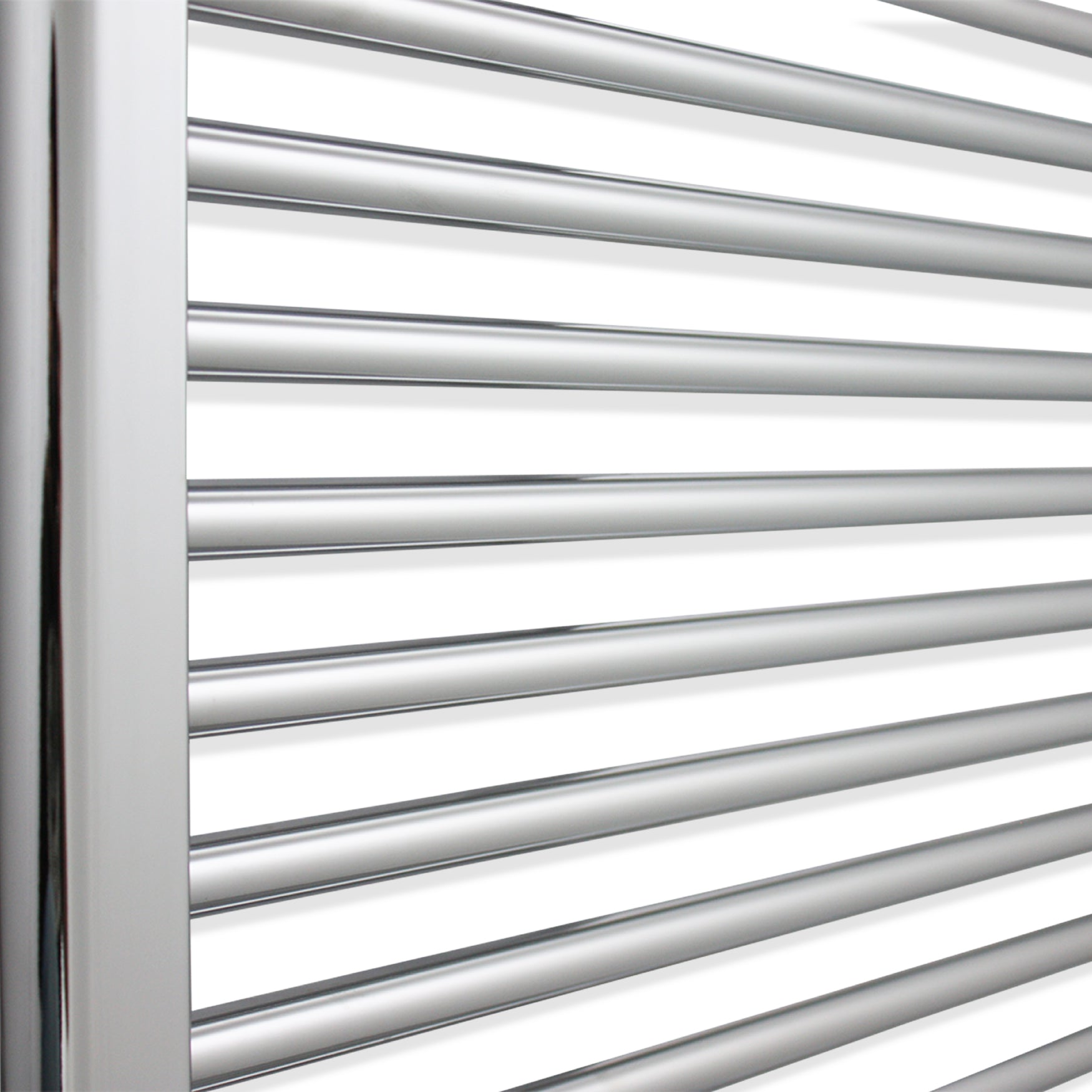350mm Wide 1800mm High Flat Chrome Heated Towel Rail Radiator