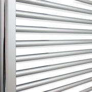 550 x 1200 Flat Chrome Heated Towel Rail Radiator Gas or Electric
