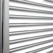450mm Wide 600mm High Curved Chrome Heated Towel Rail Radiator HTR