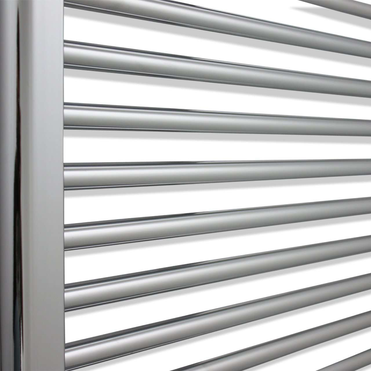 450mm Wide 1100mm High Curved Chrome Heated Towel Rail Radiator HTR