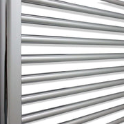 750mm Wide 1500mm High Curved Chrome Heated Towel Rail Radiator HTR