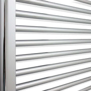 700mm Wide 800mm High Flat Chrome Heated Towel Rail Radiator HTR