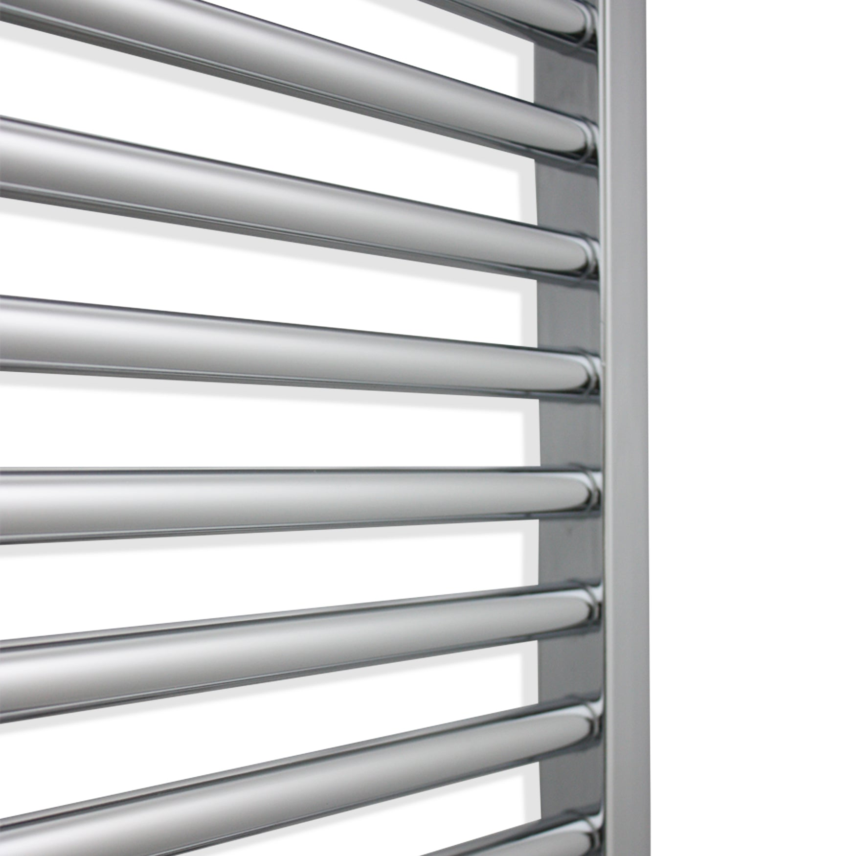 600mm Wide 800mm High Straight Chrome Heated Towel Rail: 800mm Wide 600mm High Flat Chrome Heated Towel Rail