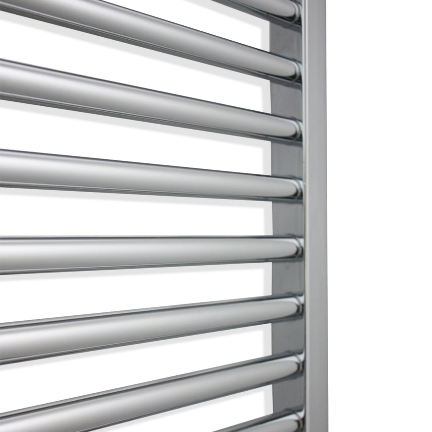 800mm Wide 600mm High Flat Chrome Heated Towel Rail Radiator HTR