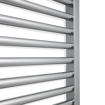 450mm Wide 400mm High Flat Or Curved Chrome Pre-Filled Electric Heated Towel Rail Radiator HTR