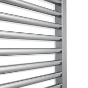 350mm Wide 1200mm High Flat Chrome Pre-Filled Electric Heated Towel Rail Radiator HTR