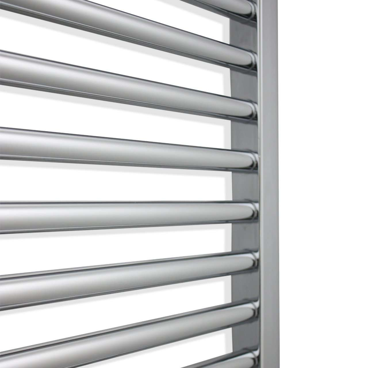 750mm Wide 1100mm High Flat Chrome Heated Towel Rail Radiator HTR
