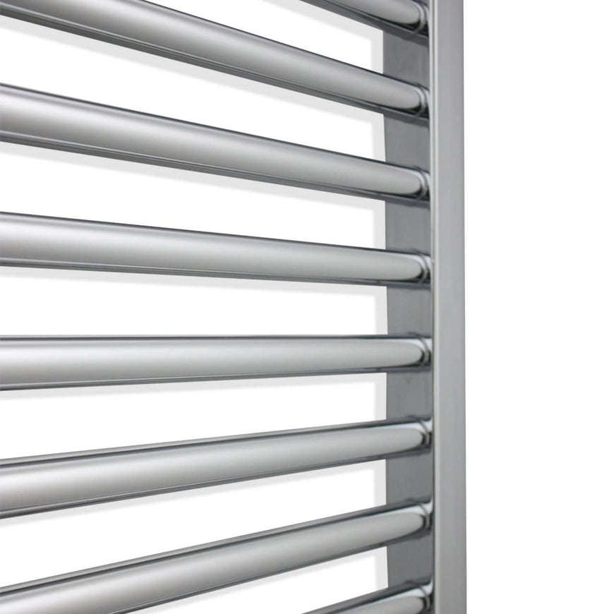 750mm Wide 800mm High Flat Chrome Heated Towel Rail Radiator HTR