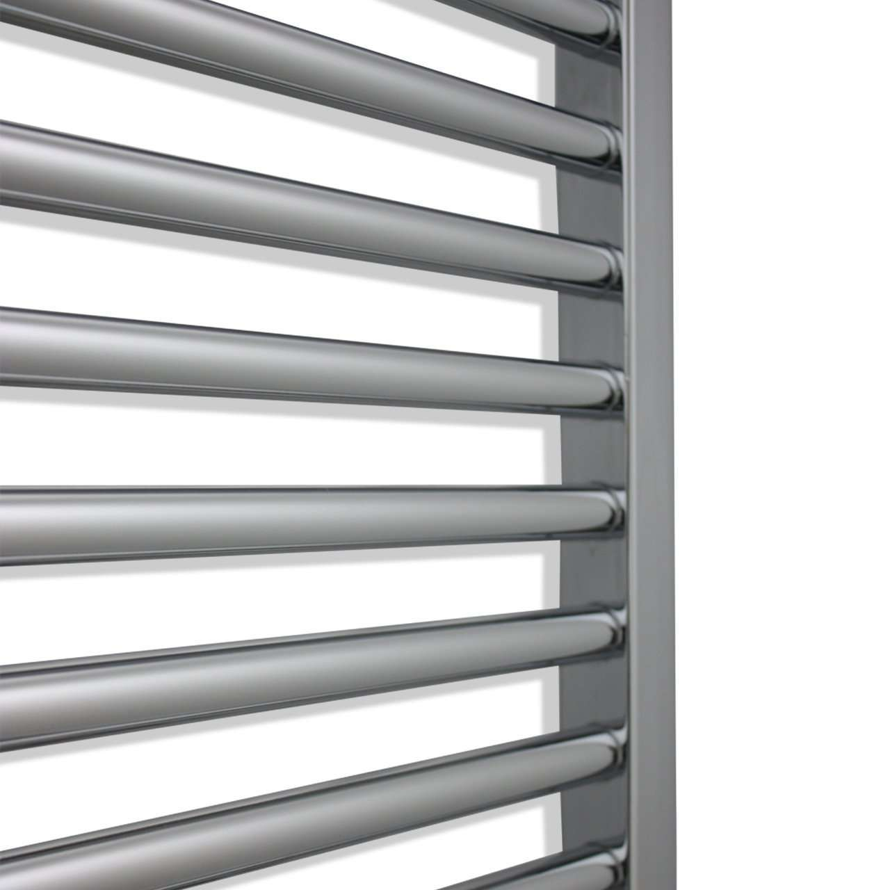 450mm Wide 1500mm High Curved Chrome Heated Towel Rail Radiator HTR
