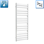 600mm Wide 1600mm High Heated Flat Panel Design Towel Rail Radiator Chrome for Central Heating,With Angled Valve