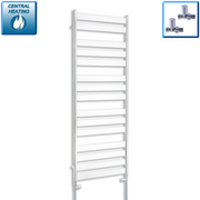 600mm Wide 1600mm High Heated Flat Panel Design Towel Rail Radiator Chrome for Central Heating,With Straight Valve