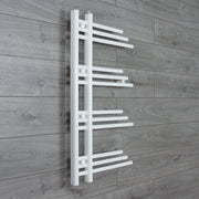 500mm Wide 900mm High Designer Flat White Heated Towel Rail Radiator Gas or Electric,Towel Rail Only