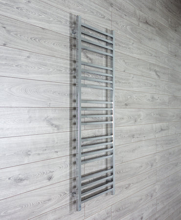500mm Wide Chrome Square Tube Designer Heated Bathroom Towel Rail Radiator,500 x 1500 mm