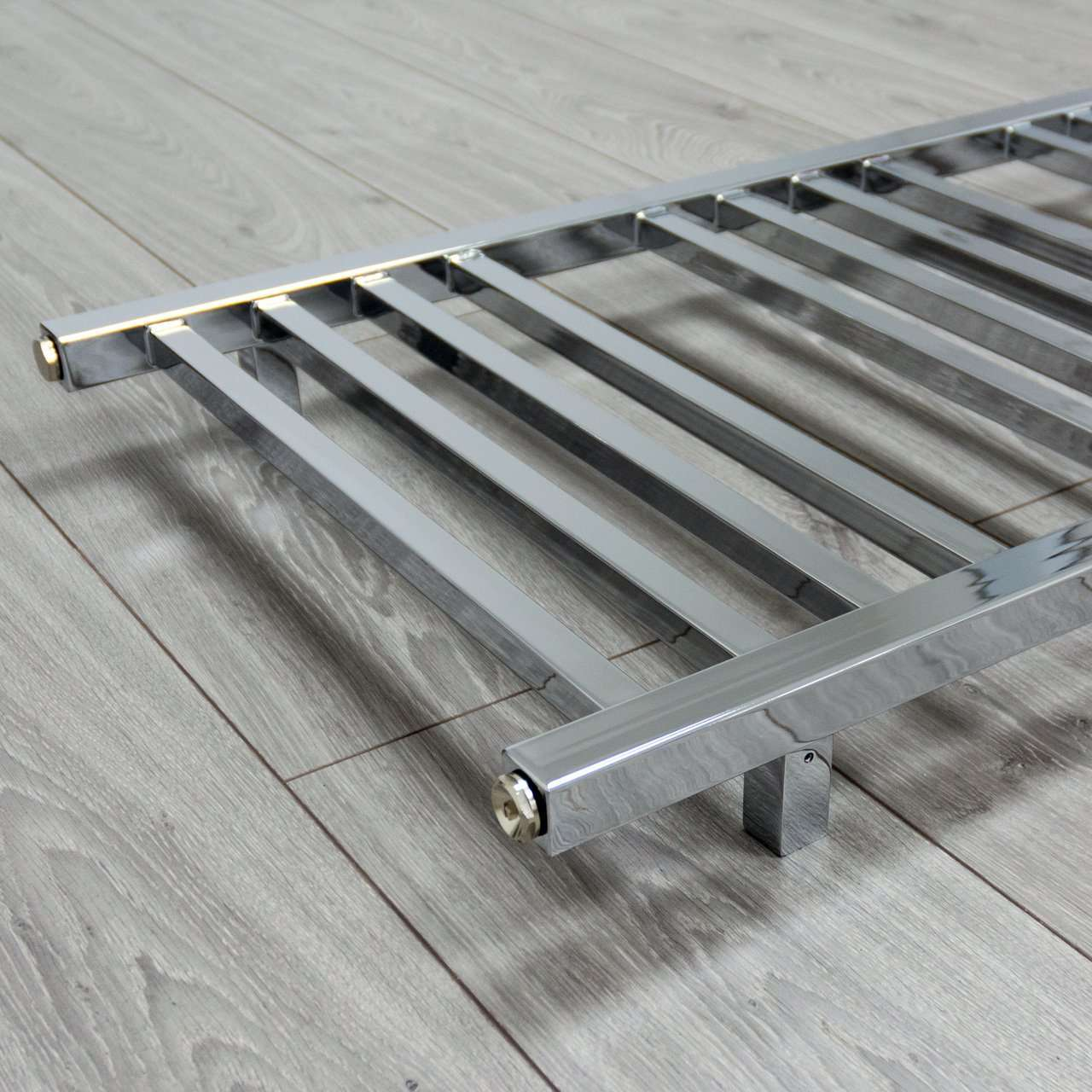 450mm Wide 900mm High SQUARE TUBE Chrome Heated Towel Rail Radiator HTR
