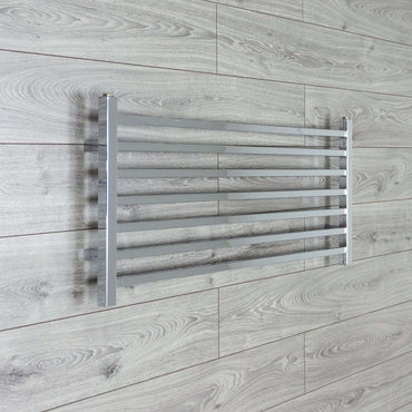1000mm Wide 450mm High Square Tube Designer Chrome Heated Towel Rail Radiator HTR,Towel Rail Only