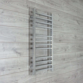 450mm Wide 900mm High SQUARE TUBE Chrome Heated Towel Rail Radiator HTR,Towel Rail Only