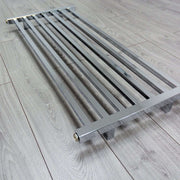 1000mm Wide 450mm High Square Tube Designer Chrome Heated Towel Rail Radiator HTR